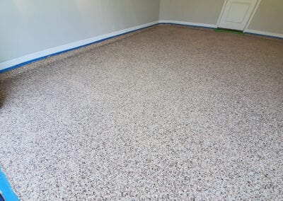 This is a flake epoxy garage floor - Florida