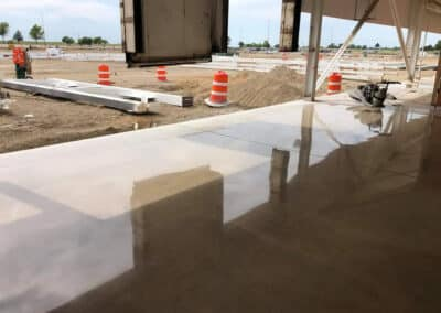 Industrial Concrete Polishing at worksite