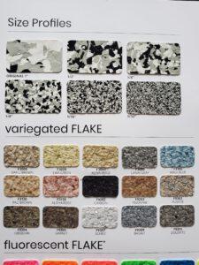 Epoxy flake styles