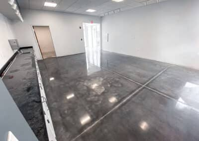 This is a picture of a polished concrete floor