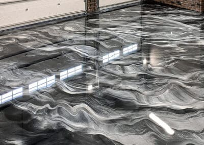 Paradigm Concrete Finishes beautiful Metallic Epoxy Floors