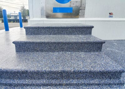 stairs with decorative color flakes for epoxy floors